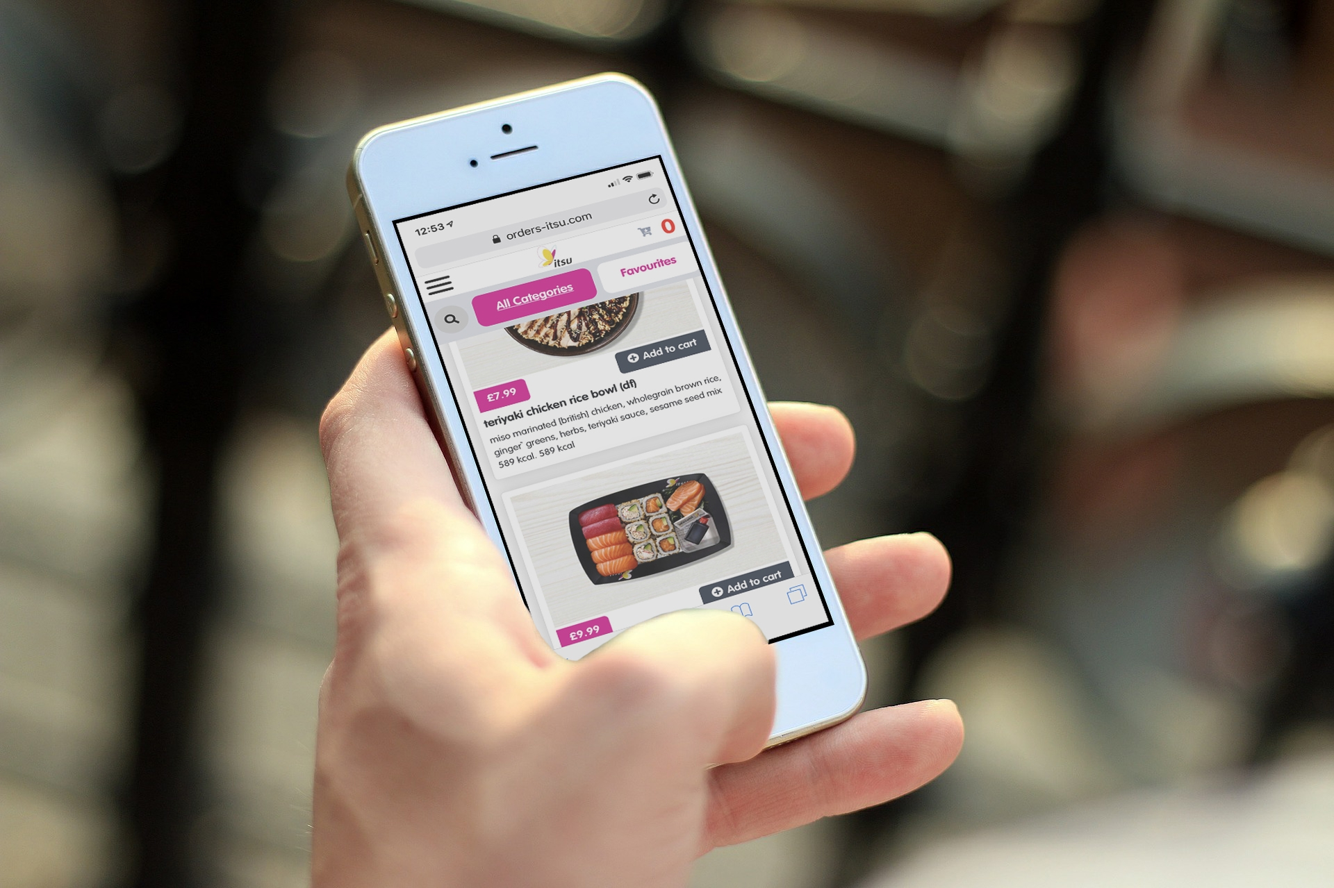 ITSU website on phone