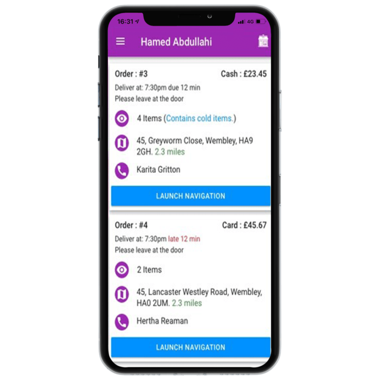 Driver Tracking App
