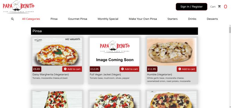 Online Ordering Website1