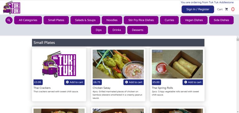 Online ordering website8