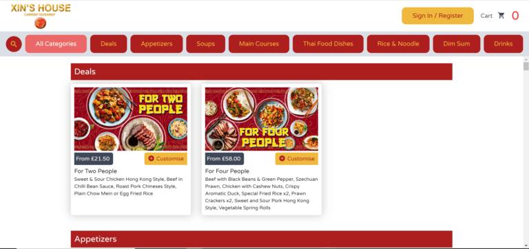 Online Ordering Website9