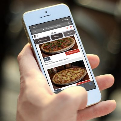 Online ordering system on mobile